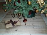 Weihnachtsbaum Unterlage Geschenk auf Holz 97cmx97cm
