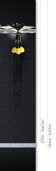 Profi Dartmatte 283 cm x 60 cm (offizieller Abstand für Steel- und Softdart)