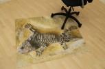 Bodenschutzmatte Fossil 120cm x 90cm