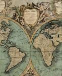 XXL Bodenschutzmatte historische Seekarte 190cm x 140cm